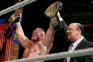Brock defeated Cena