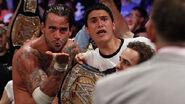 CM Punk winning the WWE Champion