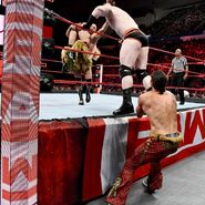 Fandango saved Tyler Breeze from Cesaro and Sheamus