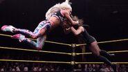 Morgan slam Vanessa onto the mat