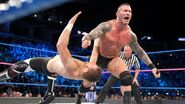 Randy Orton clothesline Sami Zayn