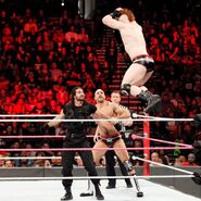 Cesaro and Sheamus caught Rollins