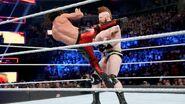 Rollins kick Sheamus