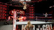 Charlotte hits a spectacular moonsault to the outside