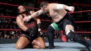 Joe slaps Rhyno in the chest