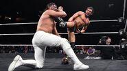 Gargano super kick at the face of Almas