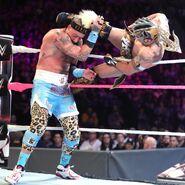 Kalisto kicked right at Amore head