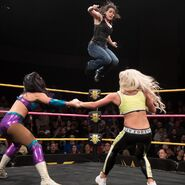 Nikki-Cross jumps both Peyton-Royce and Liv-Morgan