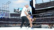 Styles kick back of Shane-McMahon head