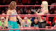 Bliss having a converstation with Mickie James