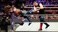 Owens throw Styles