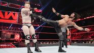 Rollins straight kick to Sheamus