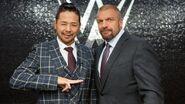 Shinsuke Nakamura with Triple H