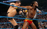 Wade-Barrett stretching Kofi-Kingston