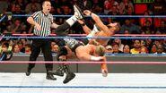 Ziggler lands a pinpoint dropkick on Roode