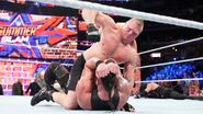 Brock-Lesnar beaten up Braun-Strowman