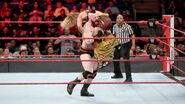 Sheamus puts Breeze onto the turnbuckle