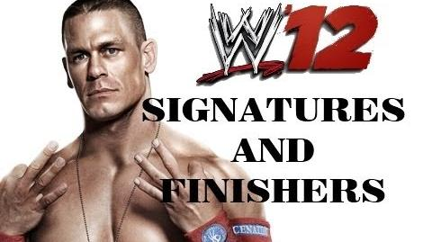 John Cena - Five Knuckle Shuffle and ATTITUDE ADJUSTMENT FINISHER - WWE 12 Gameplay Commentary