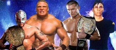 Rey Mysterio and Lesnar vs Seba Van Helsing and Randy Orton