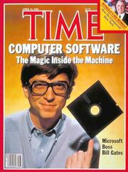 Bill gates time magazine cover april 1984