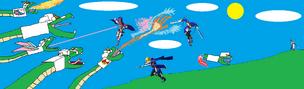 Fortezza Gundam vs Yuki and Friends