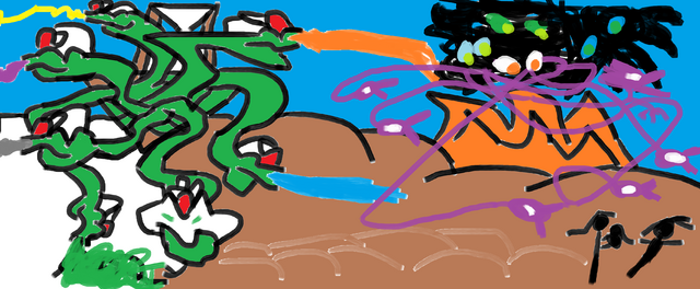 File:Baby Yuki with Adopted Mother and Brother escaping from Azure Mountain.png