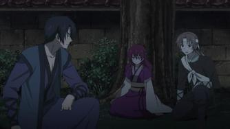 Kusanagi and Laura at the Shinseiju Tree