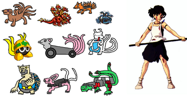 Princess Mononoke and the True Tailed Beasts