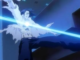 Uryu shot by Ryuken's Tailed Beast Bomb