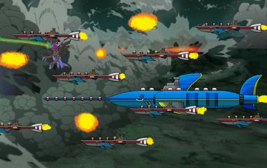 Uryu vs Eggman's Battleships