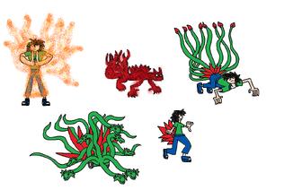 Paul Gekko's Jinjuriki Forms