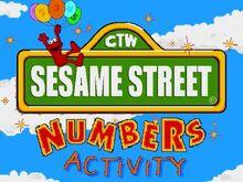 Sesame street numbers title