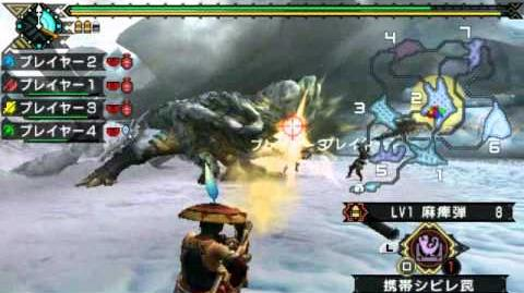 MHP3 Demo - Ice Barroth with Zyppeler, Dragokiller and Wolf (Xlink Kai)