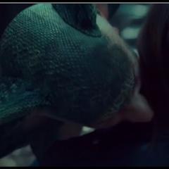 Bulshar giving Wynonna a deadly bite of poison