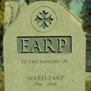 Tombstone of Ward and Willa as shown in <a href=