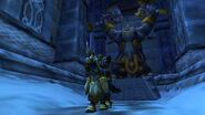 Gates of ironforge w griffin in the background