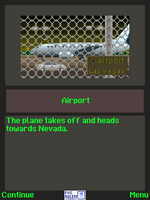 The X-Files The Deserter j2me screenshot arriving at Nevada