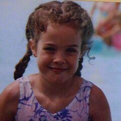 Samantha alone at a swimming pool