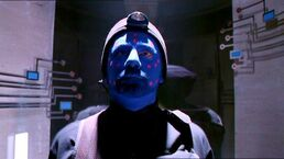 Byers with blue face