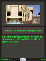 The X-Files The Deserter j2me screenshot in front of the FBI