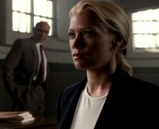 Marita Covarrubias at Fox Mulder's trial