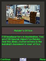 The X-Files The Deserter j2me screenshot Mulder's office