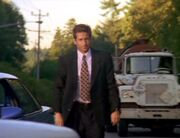 Tanker truck passes Fox Mulder