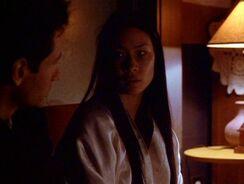 Kim Hsin talks to Fox Mulder