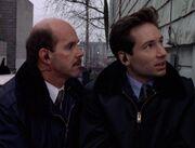 Agent Bruskin with Fox Mulder