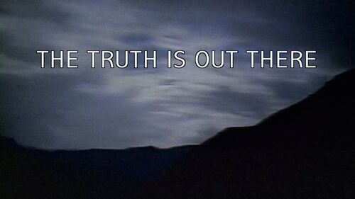 The Truth Is Out There tagline