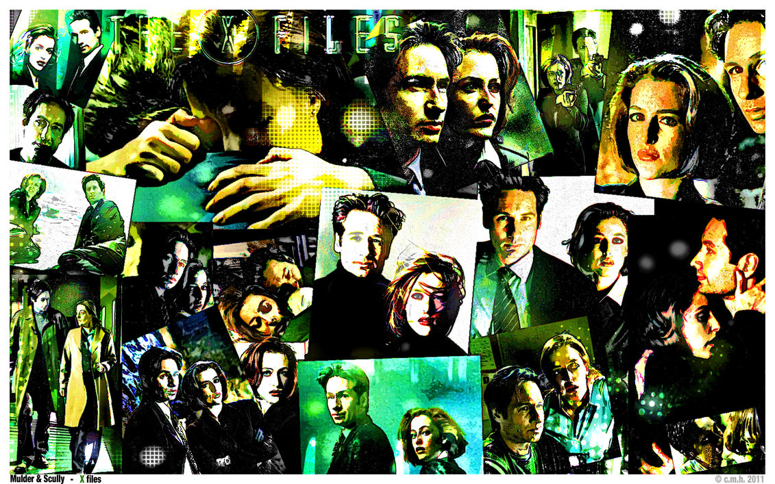 xfiles comic collage wallpaper by