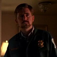 Byers dressed as paramedic