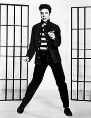 Elvis Presley promoting Jailhouse Rock