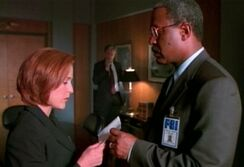 Dana Scully, Cigarette Smoking Man and Alvin Kersh